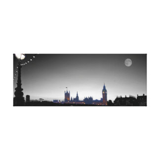 Houses of Parliament  bw Canvas Print
