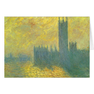 Houses of Parliament by Claude Monet Impressionism Card
