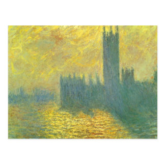 Houses of Parliament by Claude Monet Impressionism Postcard