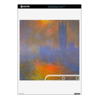 Houses of Parliament by Claude Monet Skins For PS3 Slim