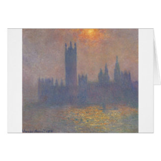 Houses of Parliament, Effect of Sunlight in the Fo Card