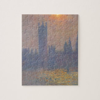 Houses of Parliament, Effect of Sunlight in the Fo Jigsaw Puzzle