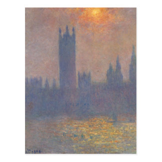 Houses of Parliament, Effect of Sunlight in the Fo Postcard