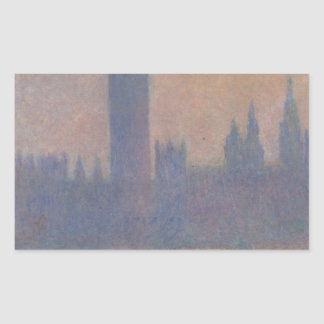 Houses of Parliament, Effect of Sunlight in the Fo Rectangular Sticker