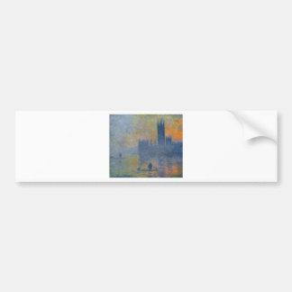Houses of Parliament, Fog Effect by Claude Monet Bumper Sticker