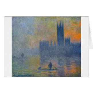 Houses of Parliament, Fog Effect by Claude Monet Card