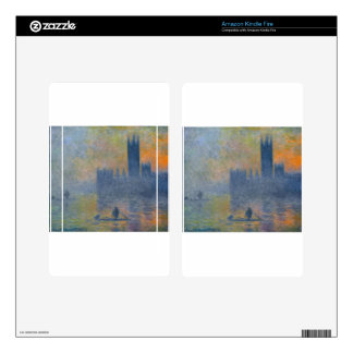 Houses of Parliament, Fog Effect by Claude Monet Skins For Kindle Fire