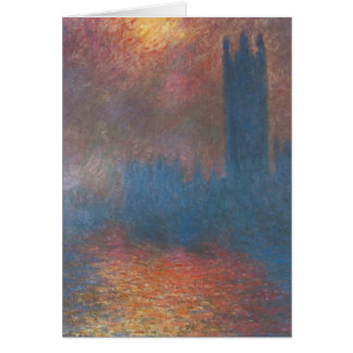 Houses of Parliament, London by Claude Monet Cards