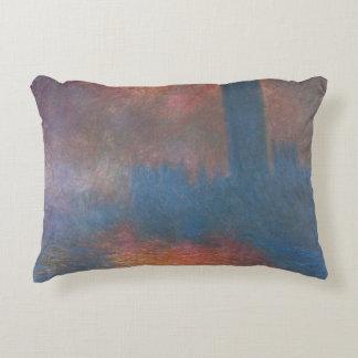 Houses of Parliament, London by Claude Monet Decorative Pillow