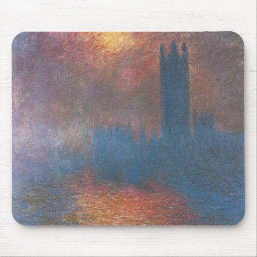 Houses of Parliament, London by Claude Monet Mouse Pad
