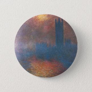 Houses of Parliament, London by Claude Monet Pinback Button