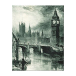Houses of Parliament, London Stretched Canvas Print