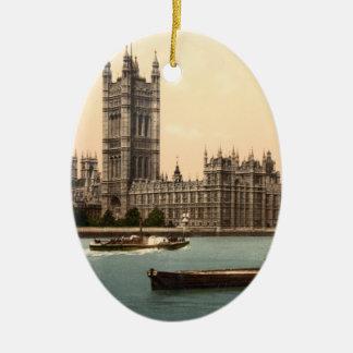 Houses of Parliament, London, England Ceramic Ornament