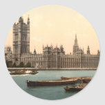 Houses of Parliament, London, England Classic Round Sticker