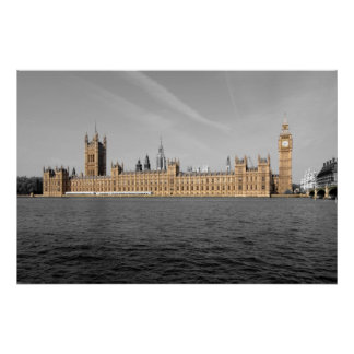 Houses of Parliament London Poster