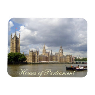 Houses of Parliament London Rectangle Magnet