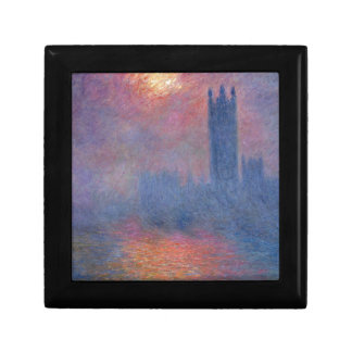 Houses of Parliament, London, Sun Breaking Through Keepsake Box