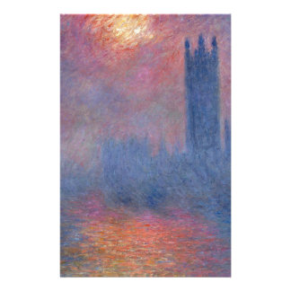Houses of Parliament, London, Sun Breaking Through Stationery