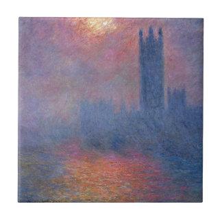 Houses of Parliament, London, Sun Breaking Through Tile
