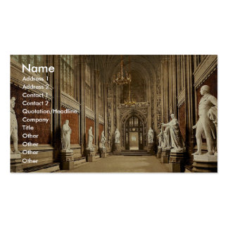 Houses of Parliament St Stephen s Hall Interior Business Card Templates