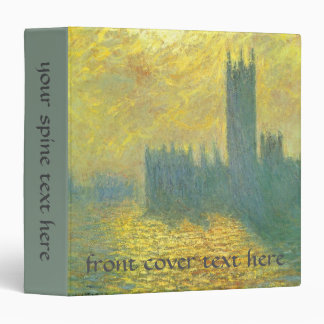 Houses of Parliament, Stormy Sky by Claude Monet 3 Ring Binder
