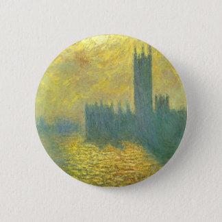 Houses of Parliament, Stormy Sky by Claude Monet Button