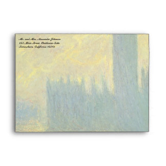 Houses of Parliament Stormy Sky by Claude Monet Envelope