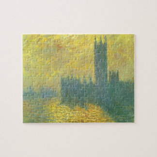Houses of Parliament, Stormy Sky by Claude Monet Jigsaw Puzzle