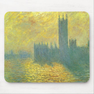 Houses of Parliament, Stormy Sky by Claude Monet Mouse Pad