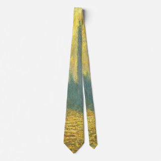 Houses of Parliament, Stormy Sky by Claude Monet Neck Tie