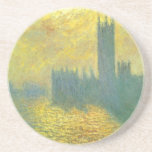 Houses of Parliament, Stormy Sky by Claude Monet Sandstone Coaster