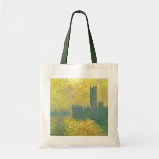 Houses of Parliament, Stormy Sky by Claude Monet Tote Bag