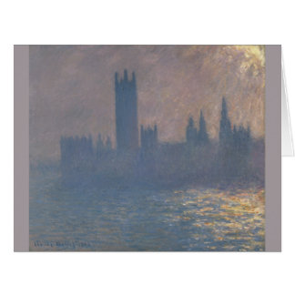 Houses of Parliament Sunlight Effect by Monet Card