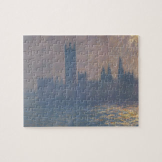 Houses of Parliament Sunlight Effect by Monet Jigsaw Puzzle