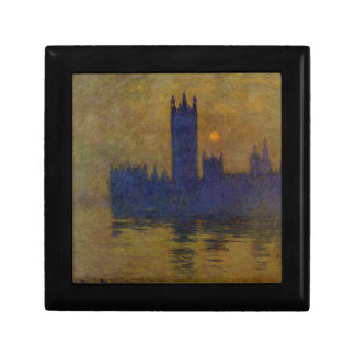 Houses of Parliament, Sunset 02 by Claude Monet Gift Box