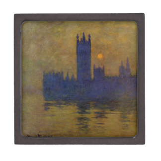 Houses of Parliament, Sunset 02 by Claude Monet Jewelry Box