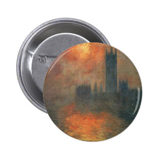 Houses of Parliament, Sunset by Claude Monet Button