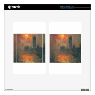 Houses of Parliament, Sunset by Claude Monet Decals For Kindle Fire