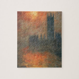 Houses of Parliament, Sunset by Claude Monet Jigsaw Puzzle