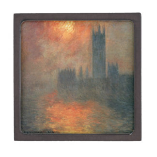 Houses of Parliament, Sunset by Claude Monet Keepsake Box