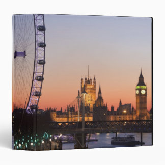 Houses of Parliament & the London Eye 3 Ring Binder