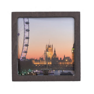 Houses of Parliament & the London Eye Keepsake Box
