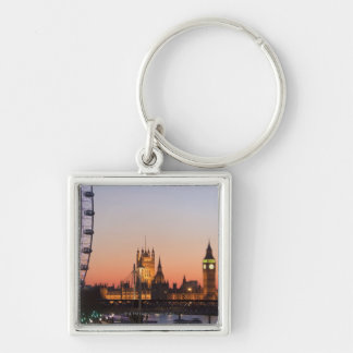 Houses of Parliament & the London Eye Keychain