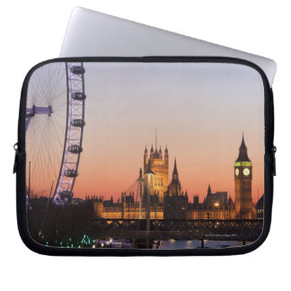 Houses of Parliament & the London Eye Laptop Sleeve