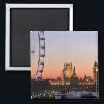 "Houses of Parliament &amp; the London Eye Magnet<br><div class=""desc"">Houses of Parliament &amp; London Eye,  Westminster,  London,  UK | Peter Adams | AssetID: 84935974</div>"
