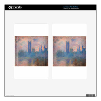 Houses of Parliament, Westminster by Claude Monet Decals For Kindle Fire
