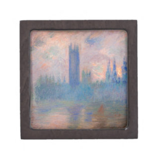 Houses of Parliament, Westminster by Claude Monet Jewelry Box