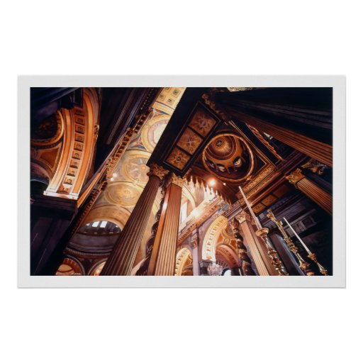 """""""Houses of the Holy"""" Church Watercolor Poster"""