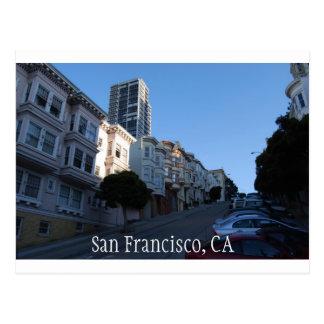 Houses on a street in San Francisco, California Postcard