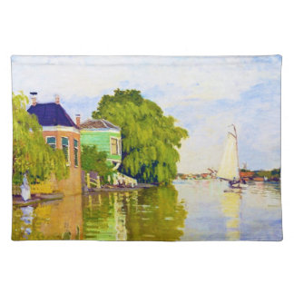 Houses on the Achterzaan, 1872 Claude Monet Place Mats
